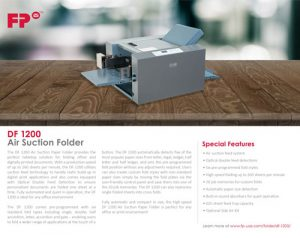 DF 1200 Brochure Cover