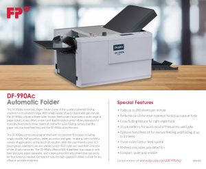DF-990Ac Automatic Folder Brochure Cover