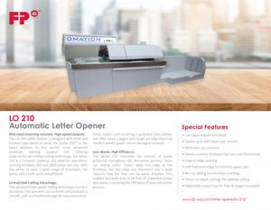 LO 210 Letter Opener Brochure Cover